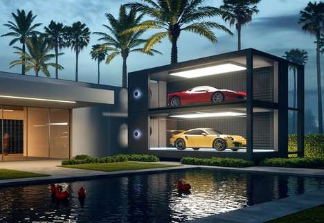 Luxury Vehicle Display Garages