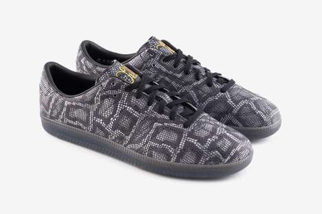 Extravagant Snakeskin Accented Shoes