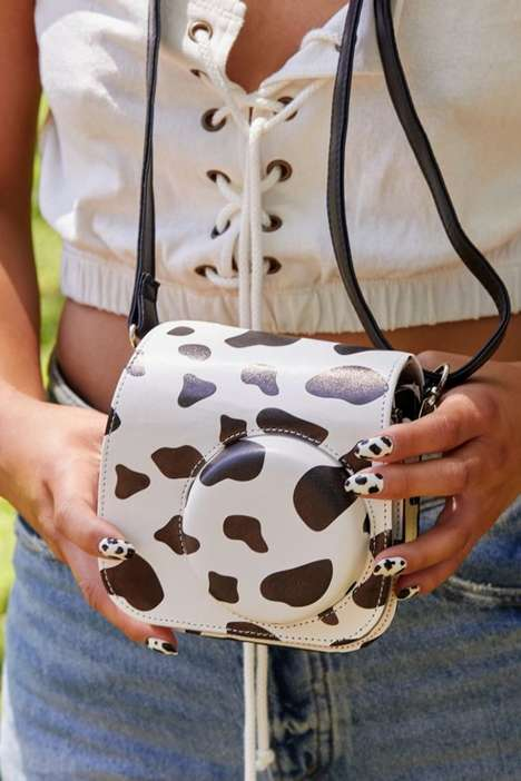 Cow-Printed Camera Cases
