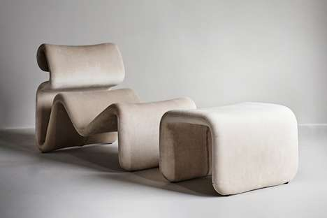 70s-Inspired Wavy Furniture