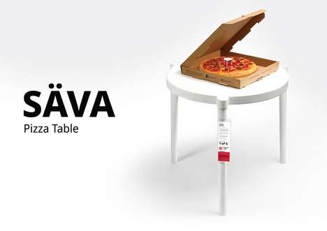 Life-Size Pizza Tables
