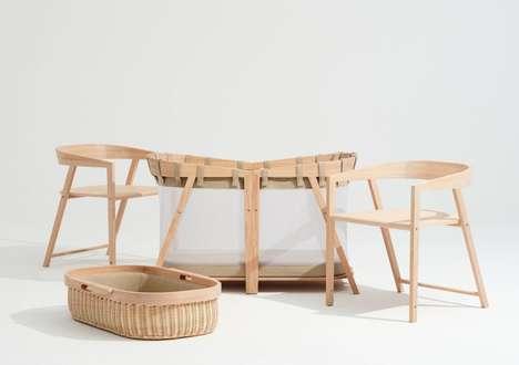 Modular Timber Infant Cradles