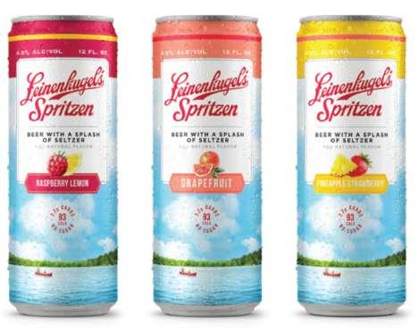 Refreshing Seltzer-Infused Beers