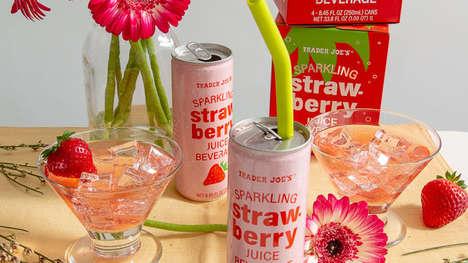 Versatile Sparkling Strawberry Drinks
