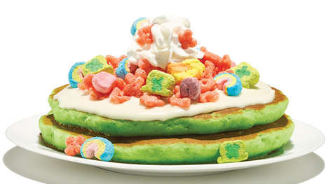 Fluffy Cereal-Topped Pancakes