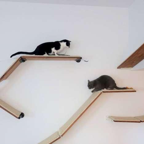 Modular Wall-Mounted Pet Furniture
