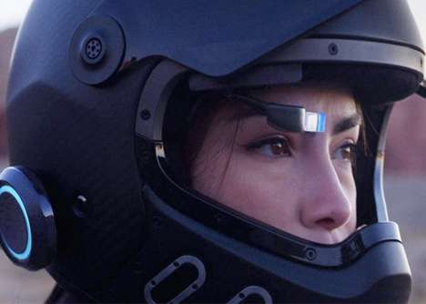 Aftermarket Motorcycle Helmet HUDs