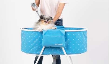 Pop-Up Pet Baths