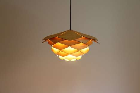 Posh Plywood Panel Chandeliers
