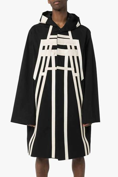 Abstract Geometric Long Parkas