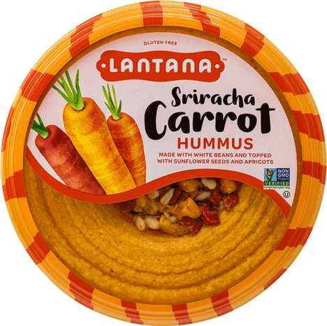 Spicy Carrot Hummus Spreads