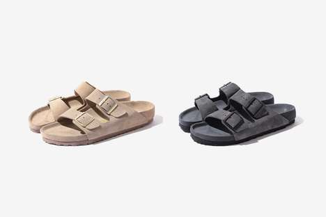 Cozy Buckled Tonal Sandals