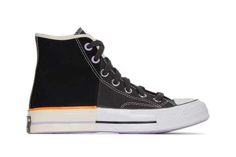 Dual Tonal High-Cut Sneakers