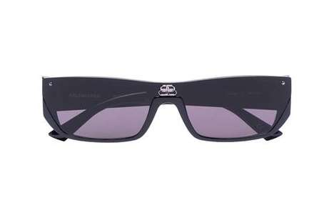 Retro-Futuristic Geometric Sunglasses