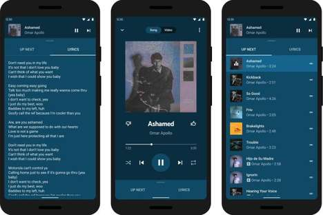 Lyric-Displaying Music Platforms