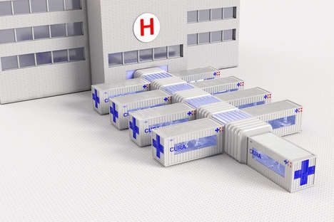 Shipping Container Hospital Rooms
