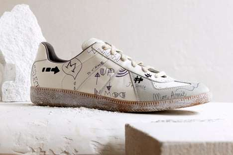 Handwritten Graffiti Sneakers