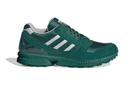 Deep Green Paneling Sneakers