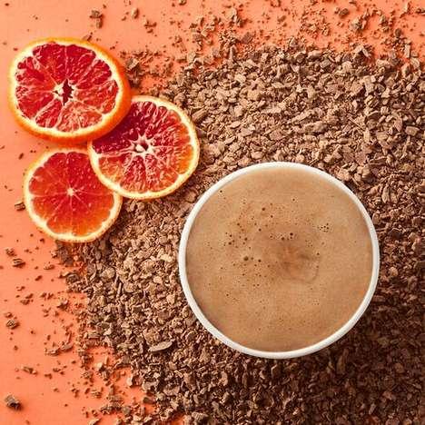 Citrus-Infused Hot Chocolates