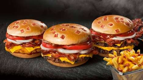 Bacon-Garnished Burger Menus