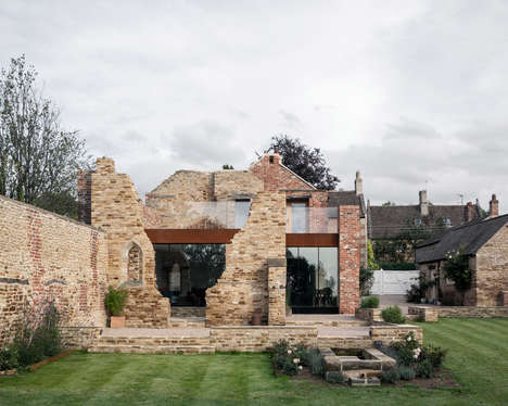 Ruin-Accented Modern Homes