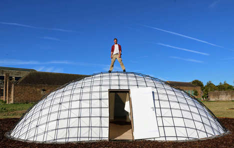 Bio-Containing Gridshell Pods