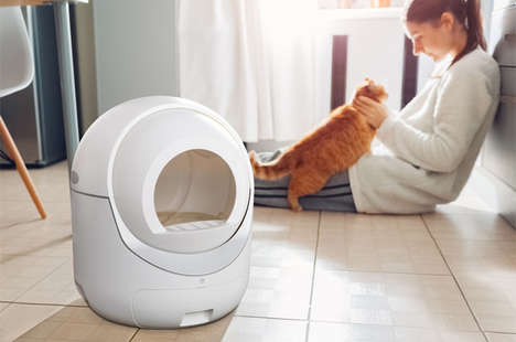 Igloo-Shaped Litter Boxes