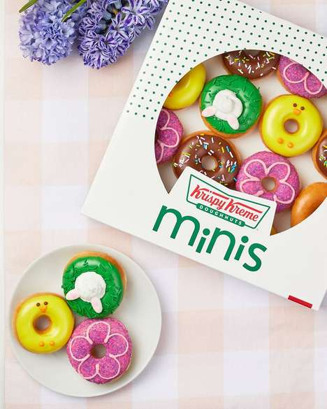 Spring-Themed Mini Donuts