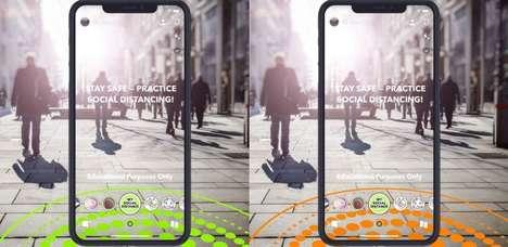AR Social Distancing Lenses