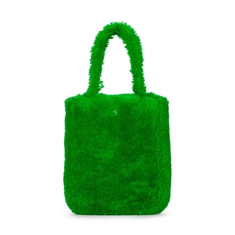 Grass-Inspired Shearling Totes