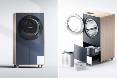 Storage-Equipped Washing Machines