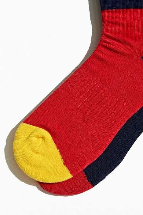 Vintage-Inspired Colorblock Socks