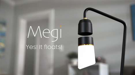 Voice-Controlled Floating Lamps