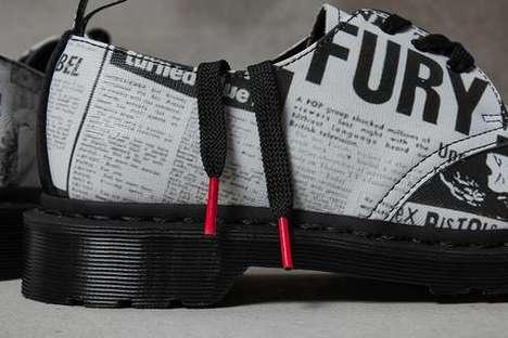 Punk-Informed Leather Footwear