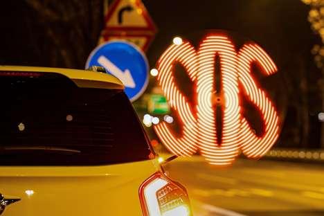 Spinning Motorist Visibility Lights