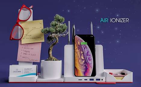 Air-Purifying Desktop Organizers
