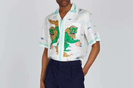 Playful Silk Twill Shirts