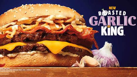 Garlic-Packed QSR Burgers