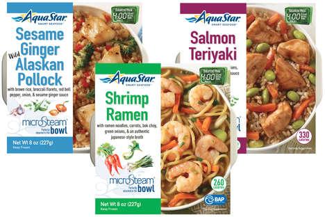 Microwavable Seafood Bowls