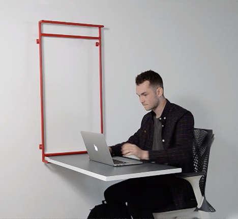 Versatile Wall-Mounted Desks