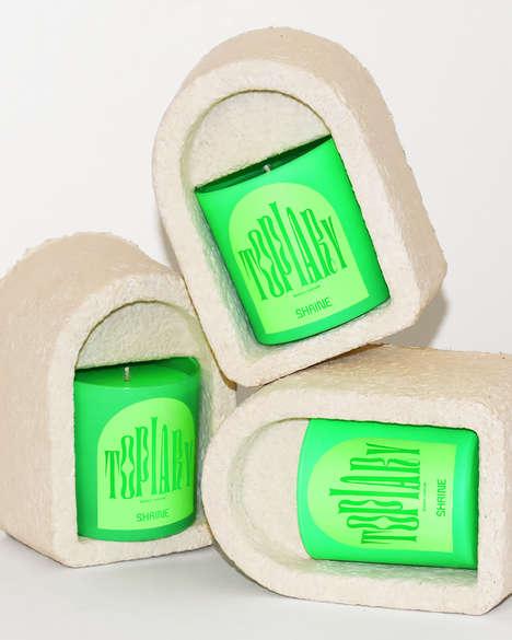 Mushroom-Based Candle Packaging