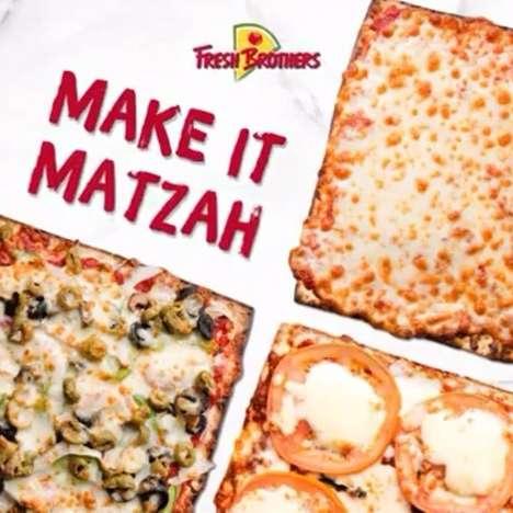 Festive Matzah Crust Pizzas