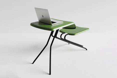 Desk-Integrated Public Seating