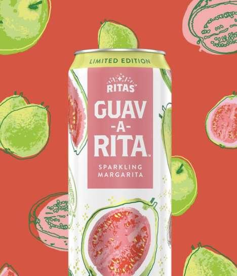 Guava-Flavored Sparkling Margaritas