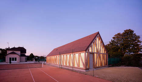 Translucent Tennis Pavilions