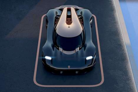 Curvaceous Road-Hugging Sports Cars