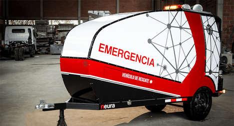 Emergency Motorcycle Trailer Ambulances