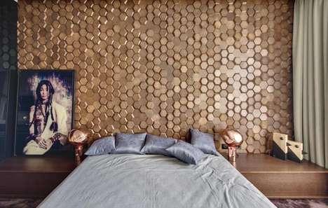 3D Honeycomb Accent Walls