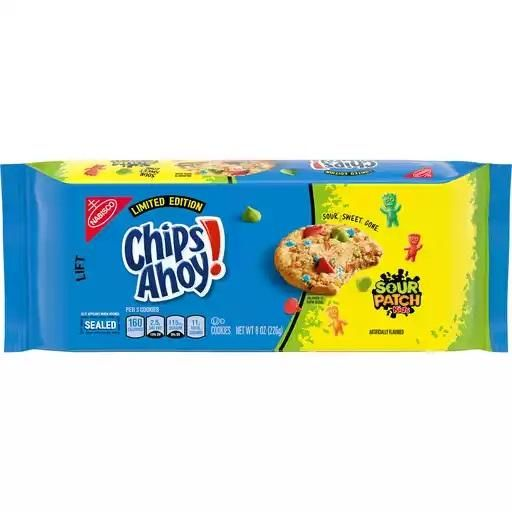 Awe Inspiring Sour Candy Studded Cookies Chips Ahoy Sour Patch Kids Cookies Funny Birthday Cards Online Fluifree Goldxyz