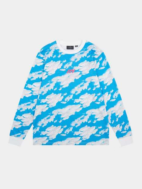 Sky-Printed Statement Tees